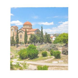 Orthodoxe Kathedrale in Athen, Griechenland Notizblock