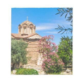 Orthodoxe Kirche in Athen, Griechenland Notizblock