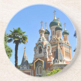 Orthodoxe Kirche in Nizza Frankreich Sandstein Untersetzer