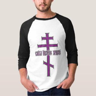 Orthodoxes Kreuz mit slawischem T-Shirt