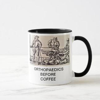 ORTHPAEDICS VOR KAFFEE TASSE