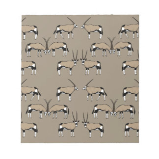 Oryx Antilope Auswahl Notizblock