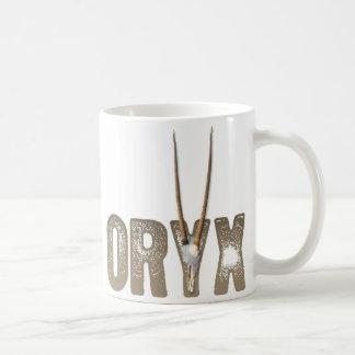 Oryx - Tier des Wüste/Namibias Afrika Schädels Kaffeetasse