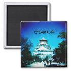 Osaka-Schloss-Magnet Quadratischer Magnet