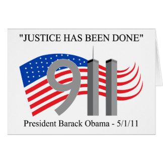 Osama bin Laden - Gerechtigkeit ist erfolgt worden Grußkarte