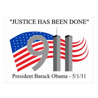 Osama bin Laden - Gerechtigkeit ist erfolgt worden Postkarten