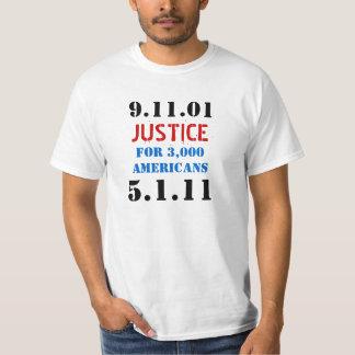 Osama bin Laden-Würfel - Gerechtigkeit 911 T Shirts