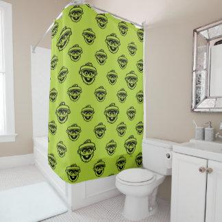 Oscar das Klage-Grün-Muster Duschvorhang