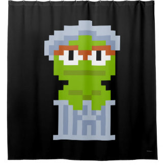 Oscar die Klage-Pixel-Kunst Duschvorhang