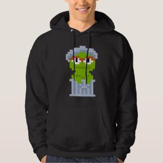 Oscar die Klage-Pixel-Kunst Hoodie