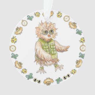 Oscar-Eulen-kakifarbige Weihnachtsverzierung Ornament