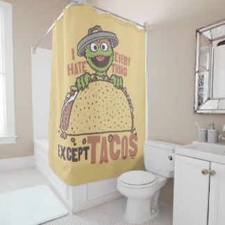 OscarI Hass alles schließen Tacos aus Duschvorhang