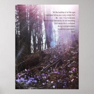 Osho Klugheits-Zitat-Erleuchtung-Plakat