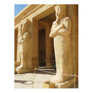 Osirian Statuen von Hatshepsut - weibliches Pharao Postkarte