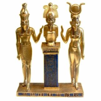 Osiris, Horus u. Isis - Verzierungs-Skulptur Fotoskulptur Ornament