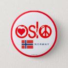 Oslo-Liebe-Friedensknopf 3 Runder Button 5,7 Cm