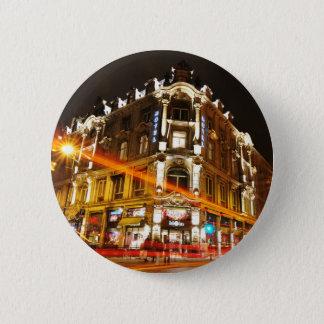 Oslo, Norwegen nachts Runder Button 5,7 Cm