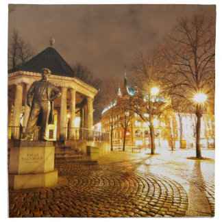 Oslo, Norwegen nachts Serviette