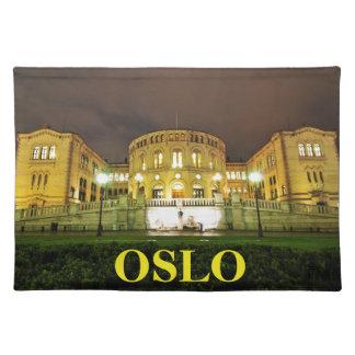 Oslo, Norwegen nachts Stofftischset