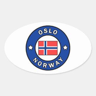 Oslo Norwegen Ovaler Aufkleber
