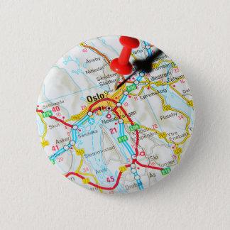 Oslo, Norwegen, Skandinavien Runder Button 5,7 Cm