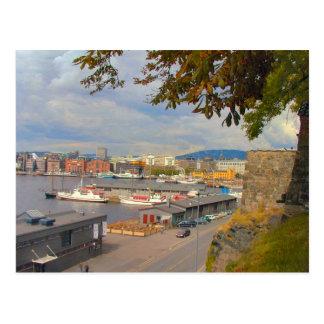 Oslo-Ufergegend und -jachthafen Postkarte