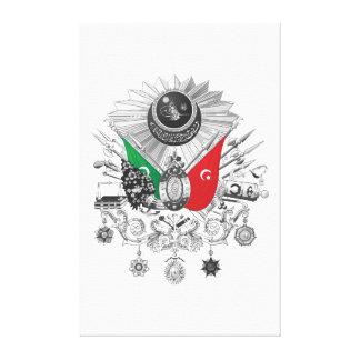 Osmanisches Reichgrayscale-Wappen Leinwanddruck