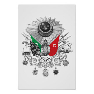Osmanisches Reichgrayscale-Wappen Poster