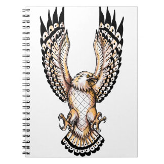 Osprey, der vordere Tätowierung Swooping ist Notizblock