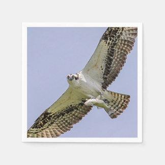 Osprey mit einem Fisch Servietten