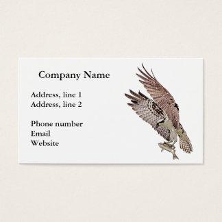 Osprey mit einem Fisch Visitenkarte