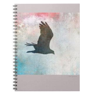 Osprey-Silhouette-gewundenes Notizbuch Notizblock