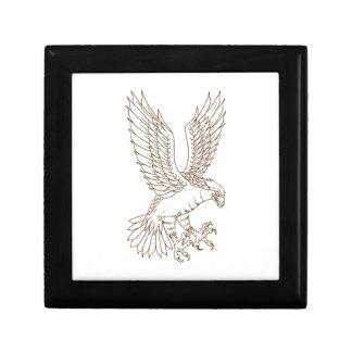 Osprey-Swooping Zeichnen Geschenkbox