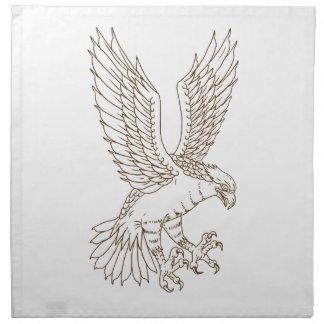 Osprey-Swooping Zeichnen Stoffserviette