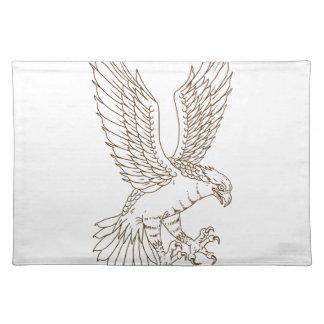 Osprey-Swooping Zeichnen Stofftischset