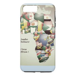 Ost-Westnord-südLiebe Afrika der zentralei iPhone 8 Plus/7 Plus Hülle