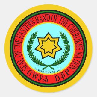 Ostband des Cherokee Siegels Runder Aufkleber