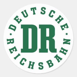 Ostdeutsche Eisenbahn Deutsche Reichsbahn Runder Aufkleber