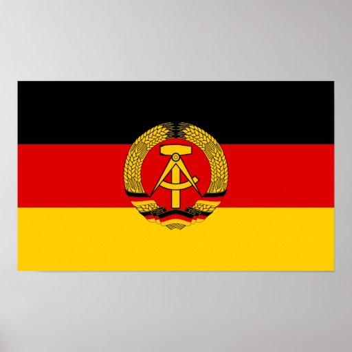 Ostdeutschland-Flagge Poster
