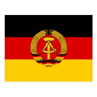 Ostdeutschland-Flagge Postkarte