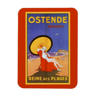 Ostende-Königin der Strandzwanziger jahre Magnet