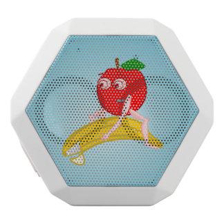 Osteopath-Frucht lustiges Apple, das eine Banane Weiße Bluetooth Lautsprecher