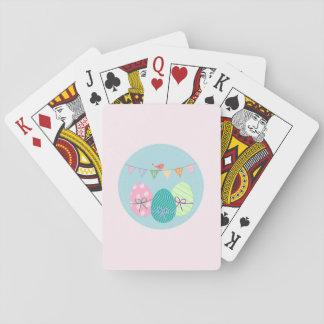 Osterei-Frühjahr-Lavendel erröten Spielkarten
