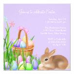 Osterei-Garten-Ostern-Abendessen-Party Einladung Quadratische 13,3 Cm Einladungskarte