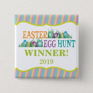 Osterei-Jagd-Sieger, bunte Eier Quadratischer Button 5,1 Cm