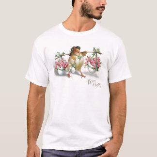 Osterei-Küken-Rosa-Rosen-Grün-Bogen T-Shirt