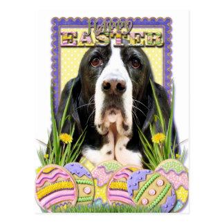 Osterei-Plätzchen - Basset Hound - Jasmin Postkarte