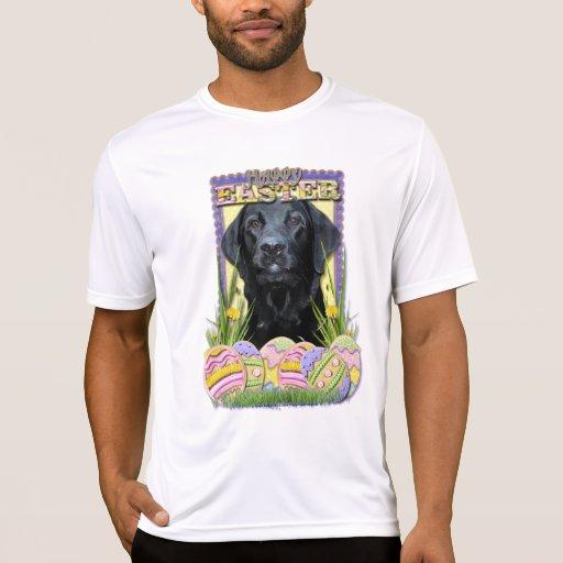 Osterei-Plätzchen - Labrador - Schwarzes Shirt