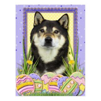 Osterei Plätzchen - Shiba Inu Postkarte
