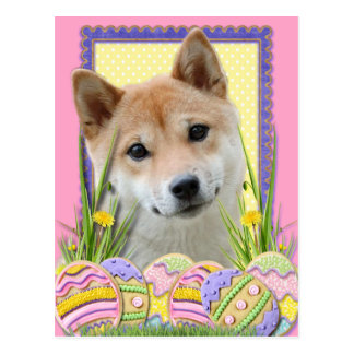 Osterei-Plätzchen - Shiba Inu Postkarte